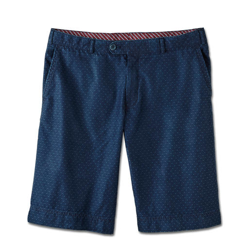 Die Jeans-Bermudas für den Gentleman. Die Jeans-Bermudas für den Gentleman. Sommerleichter 4,5-Unzen-Denim. Stilvolles Jacquard-Dessin.