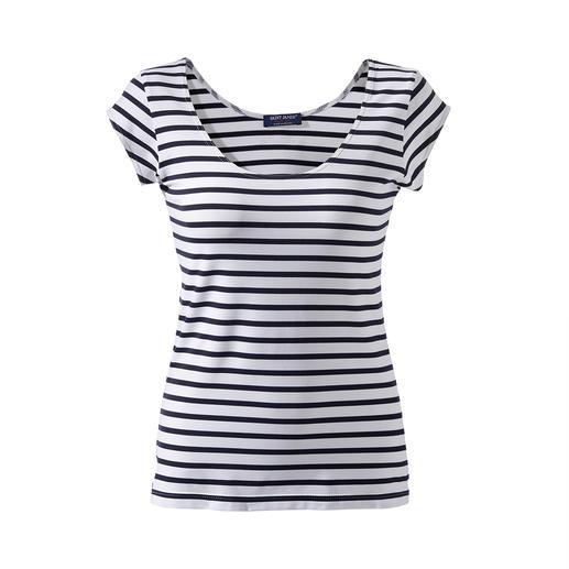 Das Bretagne-Shirt aus Meryl®: unglaublich bequem und pflegeleicht. Seit über 15 Jahren das Lieblings-Shirt bei Saint James.