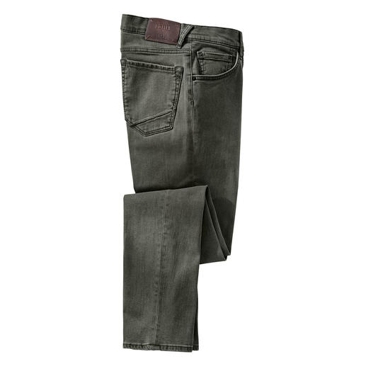 Moderner Slim-Cut – und doch bequem wie eine Jogginghose. Die Brax Jeans aus innovativem Hi-Flex-Material: Moderner Slim-Cut – und doch bequem wie eine Jogginghose.