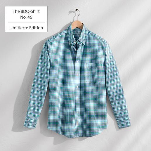 The BDO-Shirt No.46, Kariert Das gemusterte Hemd aus luftig feinem Oxfordgewebe. In limitierter Edition.
