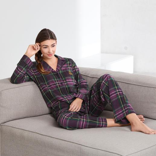 Ralph Lauren Preppy-Pyjama Klassischer Schnitt. Traditionelles Schottenkaro. Gesticktes Monogramm.