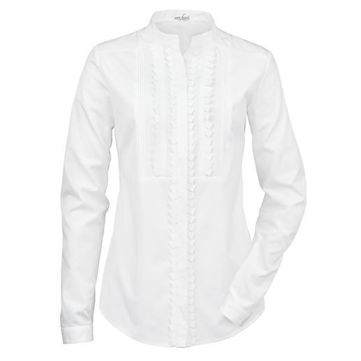 van Laack Stehkragen-Bluse - Blusen-Spezialist van Laack macht die weiße Basic-Bluse zum Trendsetter.