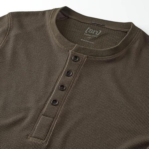 super.natural Henley-Shirt Wärmer, weicher und interessanter als die meisten.