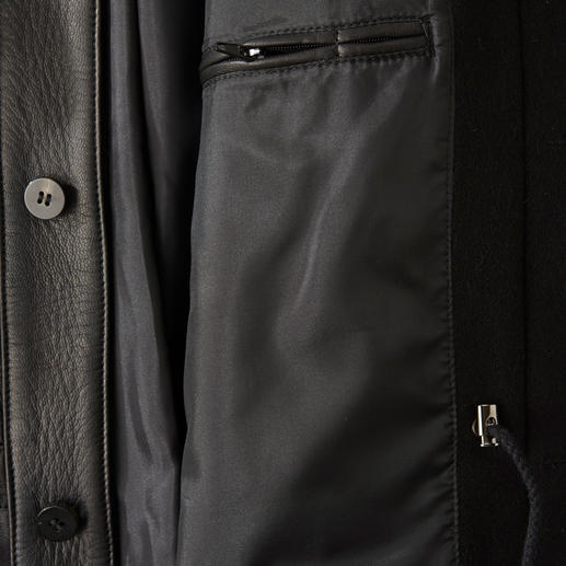Hollington Ziegenleder-Fieldjacket Unverkennbar Hollington: Das edle Fieldjacket aus softem Ziegenleder. Mit dem typischen Nehru-Stehkragen und vielen praktischen Taschen.