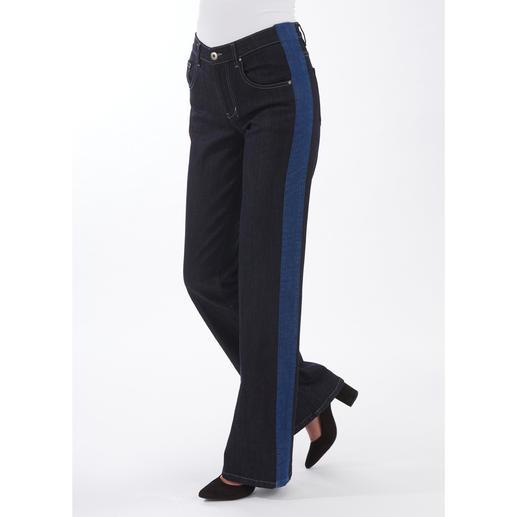 Strenesse Flared-Jeans - Clean und edel. Mit angesagten Galons. In bewährt perfekter Strenesse-Passform.