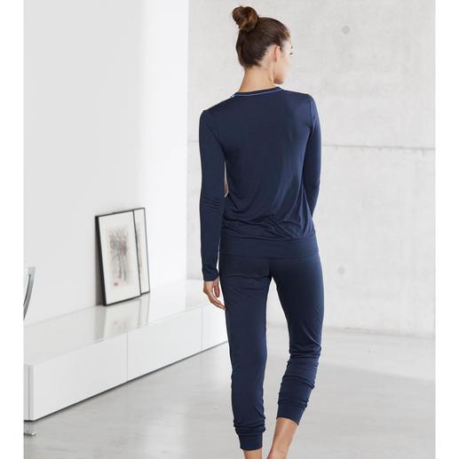 """Seiden-Modal-Pyjama """"Aquarell-Dessin"""" Viel mehr als ein Pyjama: ein kleines Kunstwerk zum Anziehen."""