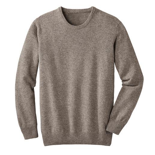 Yak-Pullover - Leichter als Schurwolle. Fast so weich wie Kaschmir. Und deutlich robuster als beide. Seltene Yakwolle, naturbelassen und frei von Chemie.