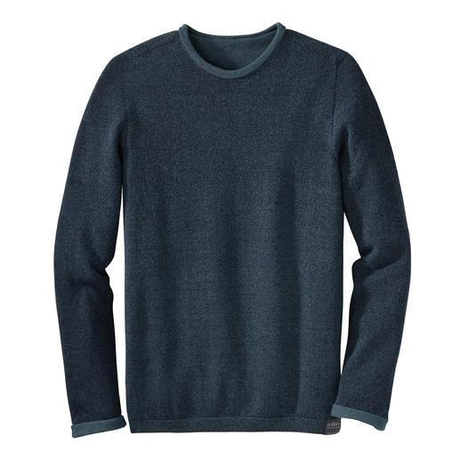 Seldom Seamless-Wendepullover - Uni oder meliert. Merino-Schurwolle oder Giza-Baumwolle.