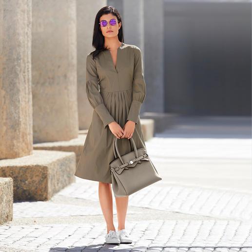 Strenesse Baumwoll-Popeline-Kleid Weder langweilig noch überladen: Das Baumwollpopeline-Kleid von Strenesse ist modisch perfekt.