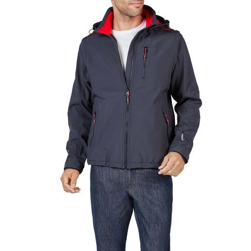 Soft Shell-Herrenjacke Schlank, leicht und trotzdem warm: die Jacke aus Soft Shell, mit WindProtect®.