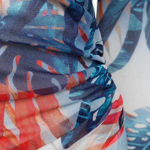 Fuzzi Handtaschenkleid blue leaves Das Designerkleid für die Handtasche. Und für fast jeden Anlass. Aus hauchzartem Tüll-Jersey.