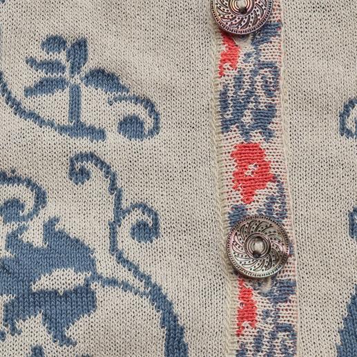 IVKO Jacquardjacke Ornamente Außergewöhnlich vielfarbiger Jacquard-Strick. Eine Rarität aus Serbien. Von IVKO.