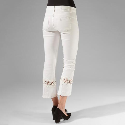 """Liu Jo Jeans weiße Spitzen-Bottom up Kaum eine Skinny- Jeans lässt Ihren Po knackiger aussehen als die """"Bottom up"""" von Liu Jo Jeans, Italien."""