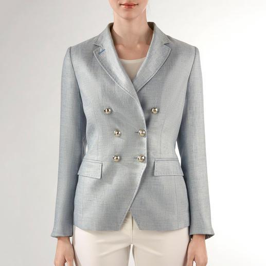 NVSCO Zweireiher-Leinen-Blazer Fashion-Update für den klassischen Zweireiher: Scharfer Schnitt. Leichter Stoff. Frische Farbe.