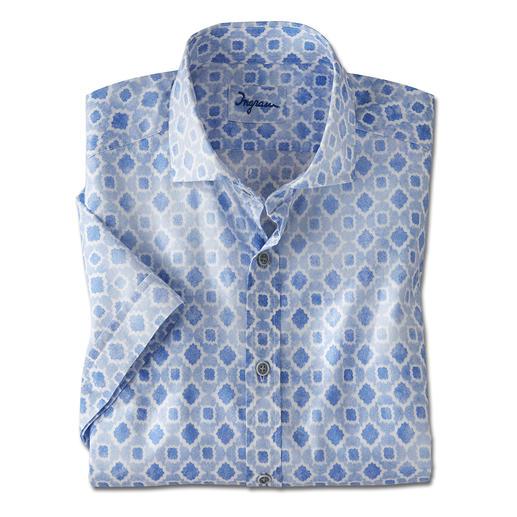 Ingram Musselin-Kurzarmhemd - 30 % leichter als Baumwoll-Popeline: Ihr wohl erfrischendstes Kurzarmhemd ist aus seltenem Musselin-Gewebe.