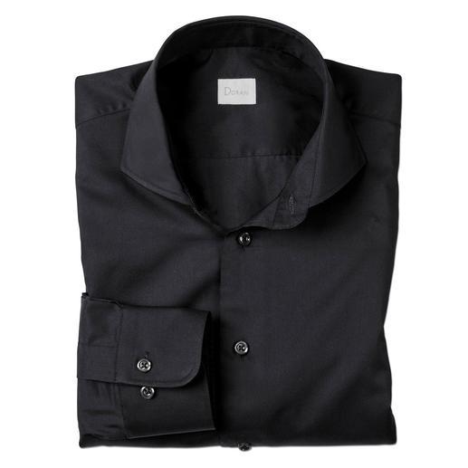 Dorani Coolmax®-Business-Hemd Ihr modisch schwarzes Hemd für den Sommer: Sie spüren das Tragegefühl von Baumwolle. Sie genießen den Klima-Komfort von Coolmax®.