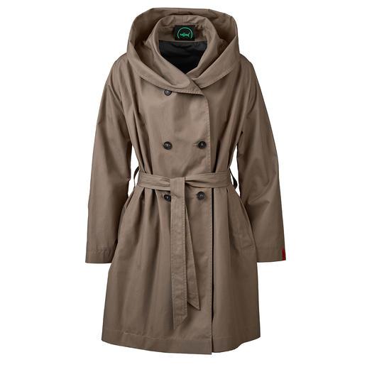 Raffauf Outdoor-Couture-Mantel - Der Outdoor-Mantel mit Couture-Charakter: Elegant und stadtfein, dabei wasserabweisend und atmungsaktiv.