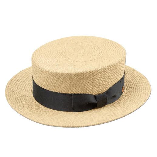 """Mayser Kreissäge Die klassische """"Kreissäge"""" feiert modisches Comeback. Aus echtem Panamastroh, handgeflochten in Ecuador."""