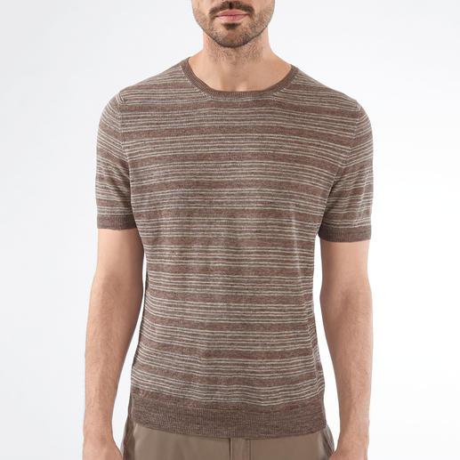 Gran Sasso Leinen-Strickshirt So angenehm zu tragen – und doch so schwer zu finden: das Edel-Shirt aus gestricktem Leinen.