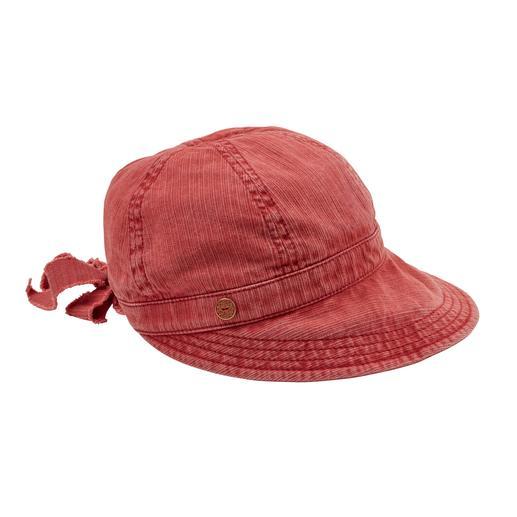 Mayser Lady-Cap So feminin kann eine Baumwoll-Kappe sein. Von Mayser, traditionsreiche deutsche Hutmanufaktur seit 1800.