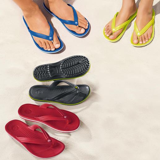 Die Strand-Flips mit bequemem Fußbett. Superweich. Sanft dämpfend. Und ultraleicht.