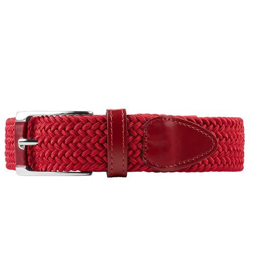 Der elastische Gürtel von Belts: genial bequem, stufenlos verstellbar. Und elastisch. Vergessen Sie Gürtellängen und -größen - dieser Gürtel passt immer. Drückt nie, auch nicht beim Sitzen.