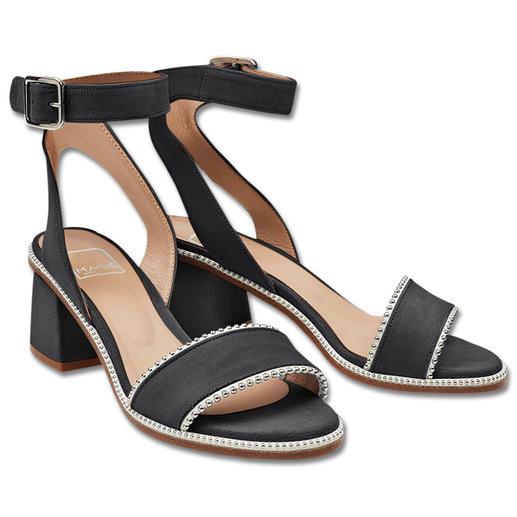Ma&Lo Fesselriemen-Sandalette Trendige Fesselriemen-Sandaletten mit Nieten: in tragbarer Höhe, sehr dezent und zu einem erschwinglichen Preis.