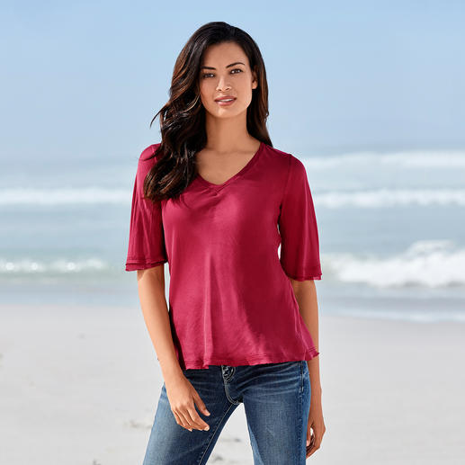 """SevenDayWonder Seidenshirt Weder zu elegant noch zu sportlich: das """"Immer-Richtig-Shirt"""" aus geschmeidig zarter Maulbeerseide."""