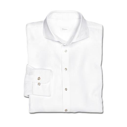 Luftig aber nicht lässig: das Business-Hemd aus belgischem Feinleinen. Luftig aber nicht lässig: das Business-Hemd aus belgischem Feinleinen. Perfekt für 30 °C und mehr.