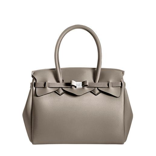 Ultraleicht-Tasche, Uni Klassischer Look, innovatives Material: Diese ultraleichte Handtasche wiegt nur 380 Gramm.