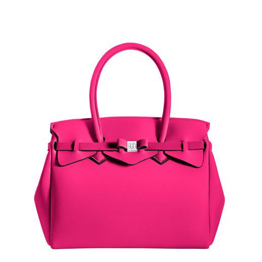 Ultraleicht-Tasche Klassischer Look, innovatives Material: Diese ultraleichte Handtasche wiegt nur 380 Gramm.