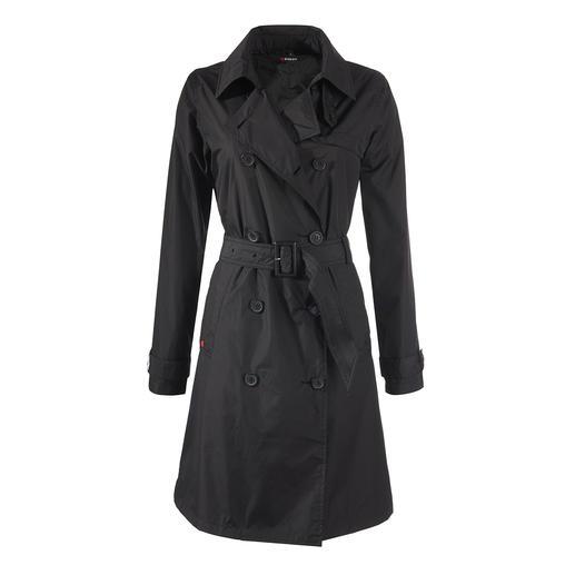 Knirps® Regen-Trenchcoat, Damen, schwarz Selten ist praktischer Nutzen so schick: der Trenchcoat vom Wetterschutz-Spezialisten Knirps®.