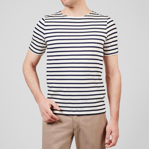T-Shirt, Ecru/Marine