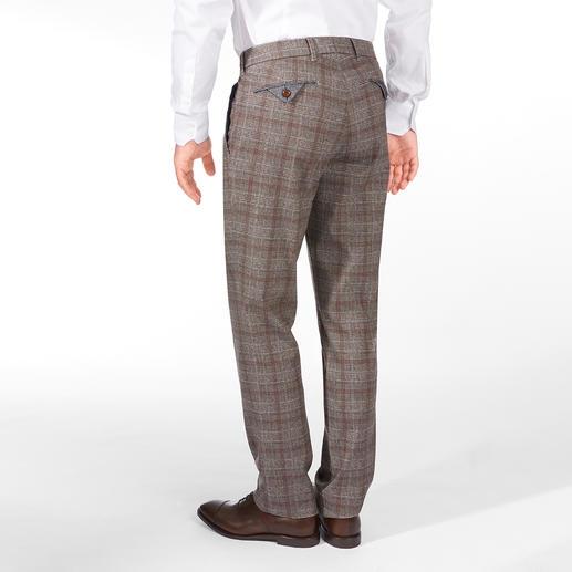 Brax Wool-Look-Glencheckhose Businesskorrekte Schurwoll-Optik – aber aus weichem, kratzfreiem Baumwoll-Flanell.