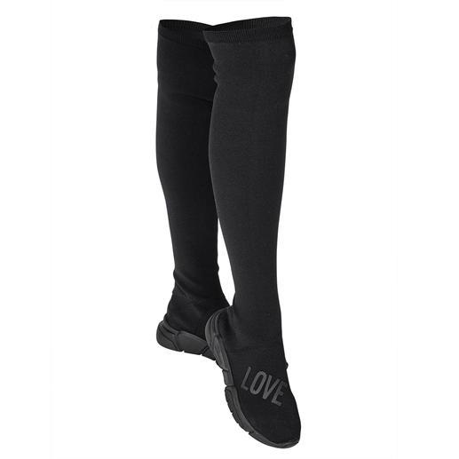 Love Moschino Overknee-Strickstiefel - Stiefel-Star Overknee: bei Love Moschino 3-fach trendgerecht durch Strick und Sneakersohle.