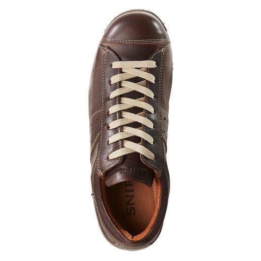 Snipe® Ripple-Ledersneaker Stil-Ikone: der wetterfeste Ledersneaker von Industriedesigner Manolo Bañó.