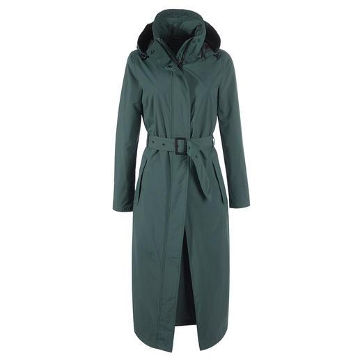 Der stylishe Trend-Mantel, der perfekt vor Regen schützt. Wasserdicht, winddicht, atmungsaktiv. Von HappyRainyDays, Amsterdam.