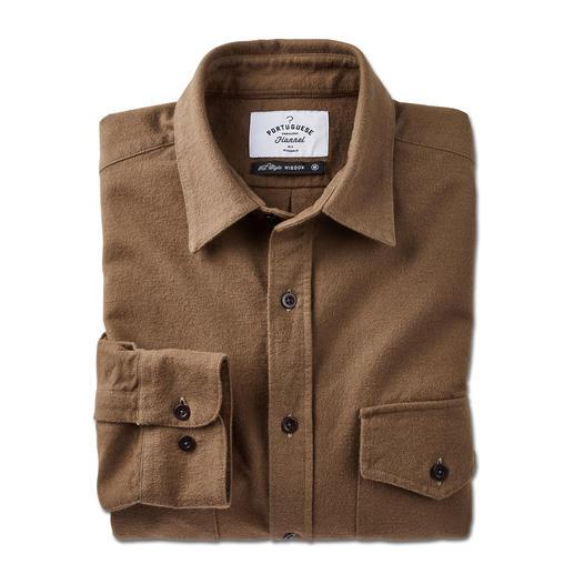 Portuguese Flannel Moleskin-Hemd Das schlanke Moleskin-Hemd von Portuguese Flannel: weit entfernt von rustikaler Workwear.