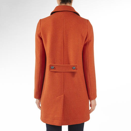 Saint James Caban-Mantel Trend Wollmantel. Modefarbe Orange. Und doch Potential zum Klassiker.