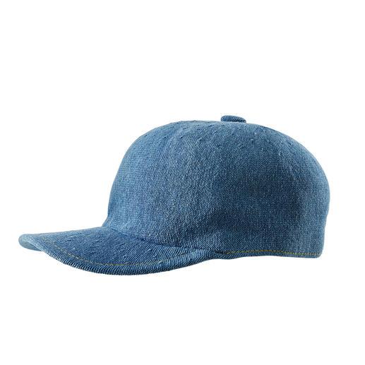 Kangol® Denim-Baseballcap Luftiger Strick. Lässiger Denim-Look. Die Baseballcap vom britischen Traditions-Hutmacher Kangol®, seit 1938.