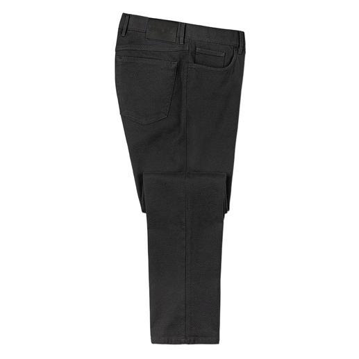 Hiltl Strukturhose - Bequem wie Jersey – aber viel fester und stabiler. Die schlanke 5-Pocket-Hose aus italienischem 3D-Gewebe.