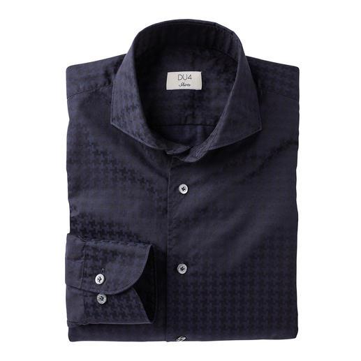 Dufour Modern-Hahnentritt-Hemd Die stilvolle Umsetzung der angesagten XL-Muster. Trendgerecht groß gemustert – und doch nicht zu plakativ.