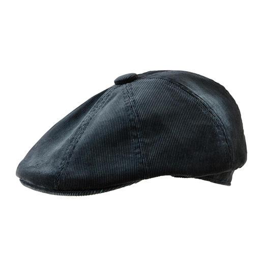 Die modische Cord-Mütze mit wirklich perfekter Passform. Im aufwändigen 8-teiligen Schnitt von Kangol®, britischer Traditions-Hutmacher von 1938.