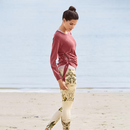 Strick-Sweater, Top und 7/8-Leggings