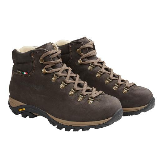 Zamberlan® Herren-Wanderstiefel - Gut 300 Gramm leichter als andere Leder-Wanderschuhe. Und dank Gore-Tex® permanent wasserdicht.