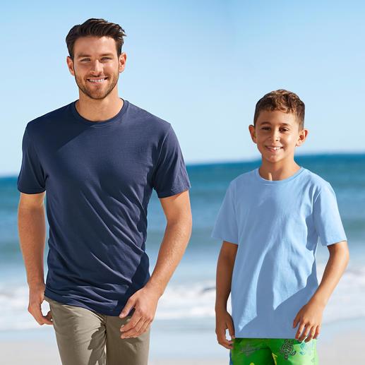 Das 155 g-Ragman T-Shirt  für Herren und Kinder - Ihr wichtigstes T-Shirt: Südamerikanische Baumwolle. 155 g/qm. Das seltene von Ragman.