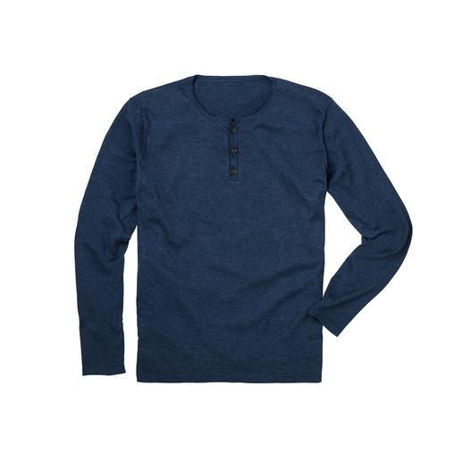 Pima-Cotton Henley-Shirt Dieser Henley-Pullover ist nicht nur zum Unterziehen. Unvergleichlich weich dank peruanischer Pima-Cotton.