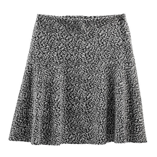 Tweed-Optik auf neue, leichte Art – als softer Baumwoll-Jersey. Tweed-Optik auf neue, leichte Art – als softer Baumwoll-Jersey.
