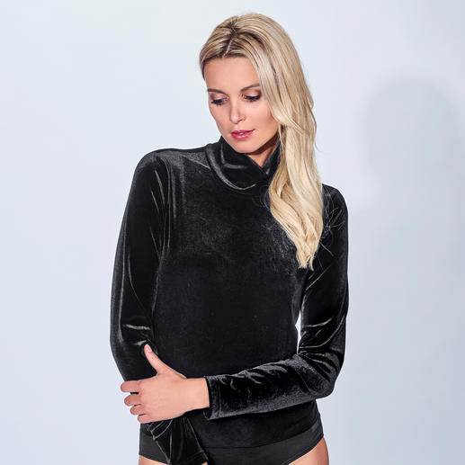 Nicki-Body Fashion-Favorit Body-Suit: edel aus Nicki – und doch erfreulich erschwinglich.