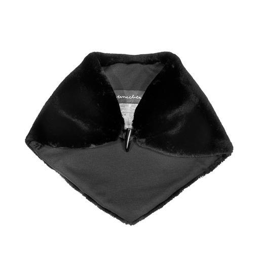 UNECHTA Fake-Fur-Dreieckschal Der Dreieckschal aus Webpelz de Luxe trifft gleich zwei Modetrends: Klein wie ein Nickituch. Flauschig wie ein Fellschal.